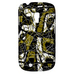 Brown Abstract Art Samsung Galaxy S3 Mini I8190 Hardshell Case by Valentinaart