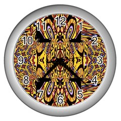 Digital Space Wall Clocks (silver)  by MRTACPANS