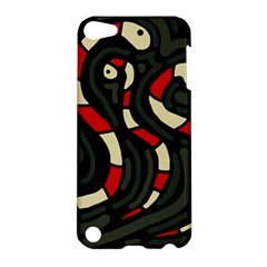 Red Snakes Apple Ipod Touch 5 Hardshell Case by Valentinaart