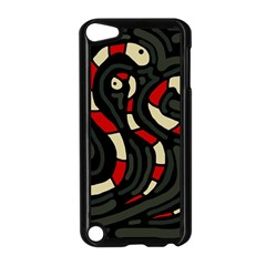 Red Snakes Apple Ipod Touch 5 Case (black) by Valentinaart