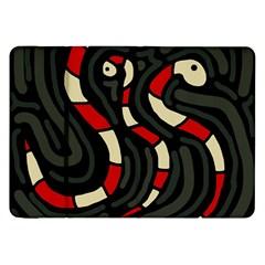 Red Snakes Samsung Galaxy Tab 8 9  P7300 Flip Case by Valentinaart