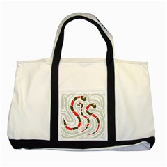 Snakes Family Two Tone Tote Bag by Valentinaart