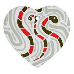 Snakes Family Heart Ornament (2 Sides) by Valentinaart