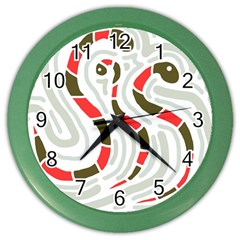 Snakes family Color Wall Clocks
