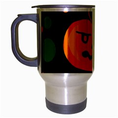 Halloween Pumpkin Travel Mug (silver Gray) by Valentinaart