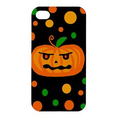 Halloween Pumpkin Apple Iphone 4/4s Premium Hardshell Case by Valentinaart