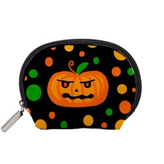 Halloween Pumpkin Accessory Pouches (small)  by Valentinaart