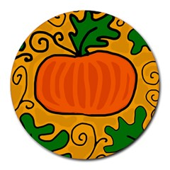 Thanksgiving Pumpkin Round Mousepads by Valentinaart