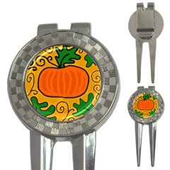 Thanksgiving Pumpkin 3 In 1 Golf Divots by Valentinaart