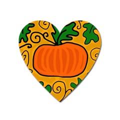 Thanksgiving Pumpkin Heart Magnet by Valentinaart
