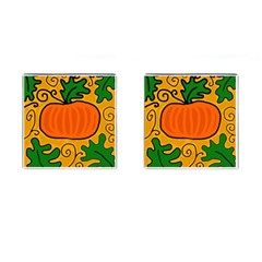 Thanksgiving Pumpkin Cufflinks (square) by Valentinaart