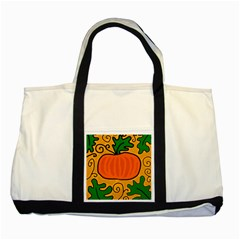 Thanksgiving Pumpkin Two Tone Tote Bag by Valentinaart