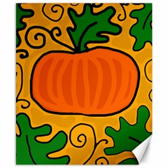 Thanksgiving Pumpkin Canvas 8  X 10  by Valentinaart