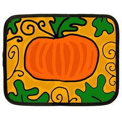 Thanksgiving Pumpkin Netbook Case (xl)  by Valentinaart