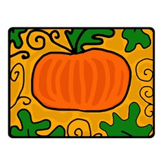 Thanksgiving Pumpkin Double Sided Fleece Blanket (small)  by Valentinaart