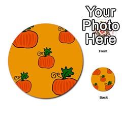 Thanksgiving Pumpkins Pattern Multi Purpose Cards (round)  by Valentinaart