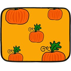 Thanksgiving pumpkins pattern Double Sided Fleece Blanket (Mini)