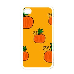 Thanksgiving Pumpkins Pattern Apple Iphone 4 Case (white) by Valentinaart