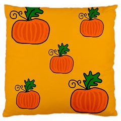 Thanksgiving Pumpkins Pattern Large Flano Cushion Case (one Side) by Valentinaart