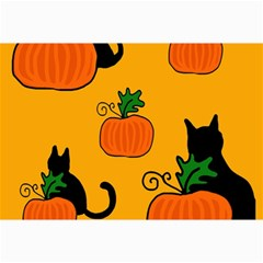 Halloween Pumpkins And Cats Collage Prints by Valentinaart