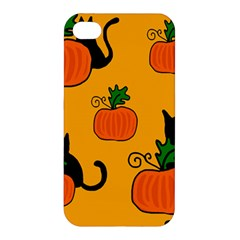 Halloween Pumpkins And Cats Apple Iphone 4/4s Hardshell Case by Valentinaart