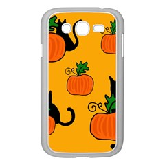 Halloween Pumpkins And Cats Samsung Galaxy Grand Duos I9082 Case (white) by Valentinaart