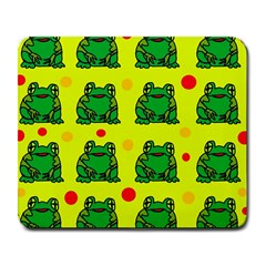 Green Frogs Large Mousepads by Valentinaart