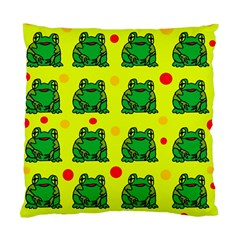 Green Frogs Standard Cushion Case (one Side) by Valentinaart