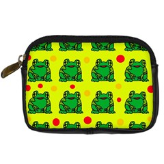 Green Frogs Digital Camera Cases by Valentinaart