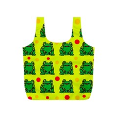 Green Frogs Full Print Recycle Bags (s)  by Valentinaart