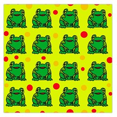 Green Frogs Large Satin Scarf (square) by Valentinaart
