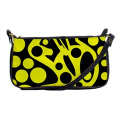 Black And Yellow Abstract Desing Shoulder Clutch Bags by Valentinaart