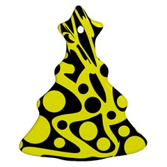 Black and Yellow abstract desing Ornament (Christmas Tree) by Valentinaart