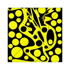 Black And Yellow Abstract Desing Acrylic Tangram Puzzle (6  X 6 ) by Valentinaart