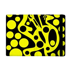 Black And Yellow Abstract Desing Apple Ipad Mini Flip Case by Valentinaart
