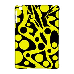 Black And Yellow Abstract Desing Apple Ipad Mini Hardshell Case (compatible With Smart Cover) by Valentinaart