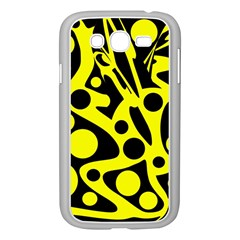 Black And Yellow Abstract Desing Samsung Galaxy Grand Duos I9082 Case (white) by Valentinaart