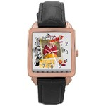 halloween - Rose Gold Leather Watch