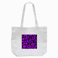 Purple And Black Abstract Decor Tote Bag (white) by Valentinaart