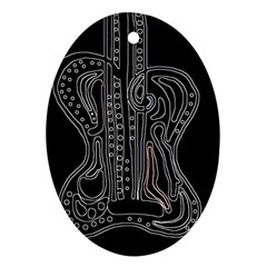 Decorative Guitar Oval Ornament (two Sides) by Valentinaart