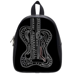 Decorative Guitar School Bags (small)  by Valentinaart