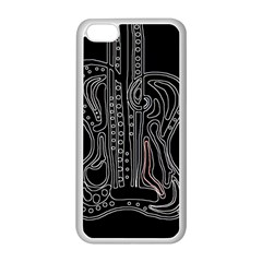 Decorative Guitar Apple Iphone 5c Seamless Case (white) by Valentinaart