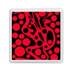 Red and black abstract decor Memory Card Reader (Square)