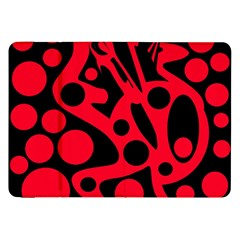 Red And Black Abstract Decor Samsung Galaxy Tab 8 9  P7300 Flip Case by Valentinaart