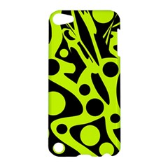 Green And Black Abstract Art Apple Ipod Touch 5 Hardshell Case by Valentinaart