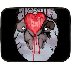 Til Death Fleece Blanket (Mini) by lvbart
