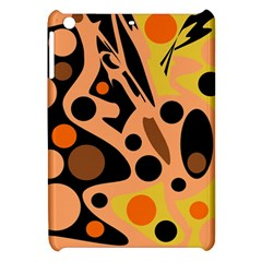 Orange Abstract Decor Apple Ipad Mini Hardshell Case by Valentinaart