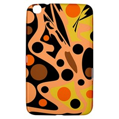 Orange Abstract Decor Samsung Galaxy Tab 3 (8 ) T3100 Hardshell Case  by Valentinaart