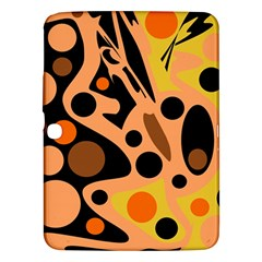 Orange Abstract Decor Samsung Galaxy Tab 3 (10 1 ) P5200 Hardshell Case  by Valentinaart