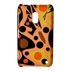 Orange abstract decor Nokia Lumia 620 by Valentinaart